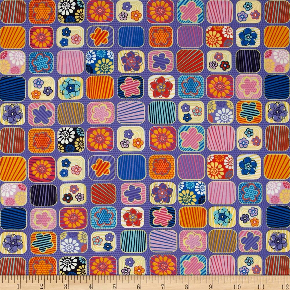 Always Blooming Floral Patchwork Passion Purple