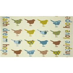 "Birds and Blooms Songbird 24"" Panel Leaf/Multi"