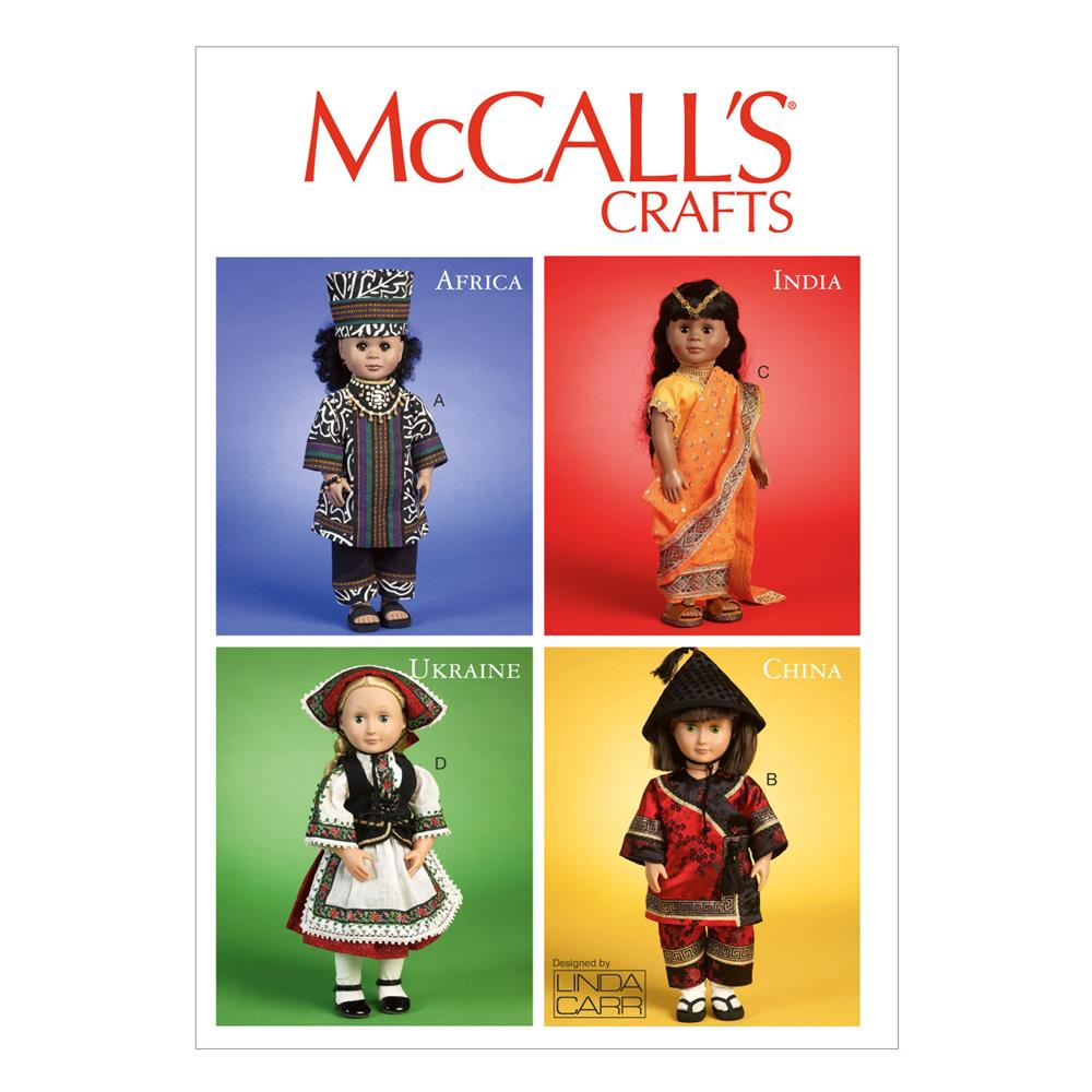 "McCall's International Clothes and Accessories For 18"" Doll, Pattern M6855 Size OSZ"