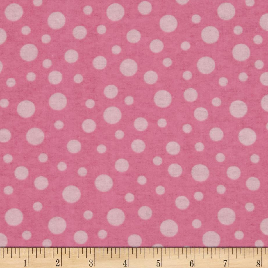 Alpine Flannel Basics Dots Pink