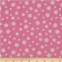 Alpine Flannel Basics Dots Pink Fabric