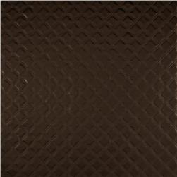 Luxury Faux Leather Pearlized Diamonds Brown