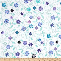Stitches In Bloom Mini Floral Teal