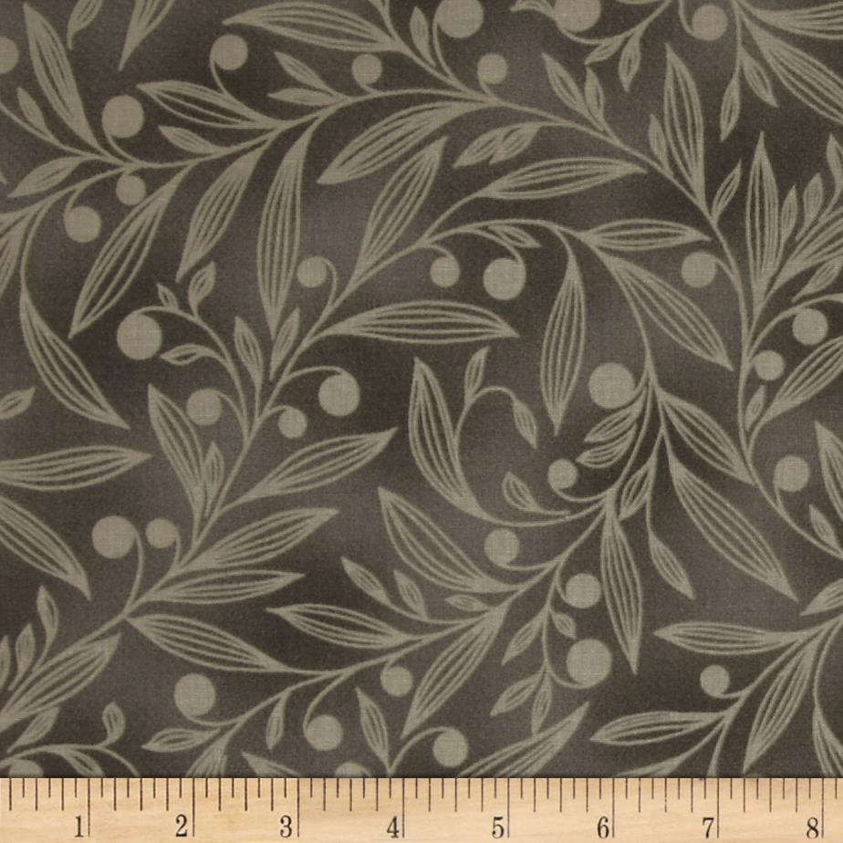 Flutter Berry Branches Charcoal