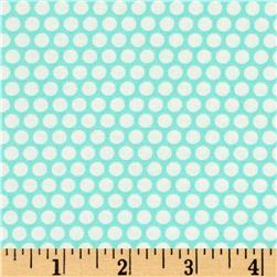 Moda Basics Bliss Dot Vintage Picnic Aqua