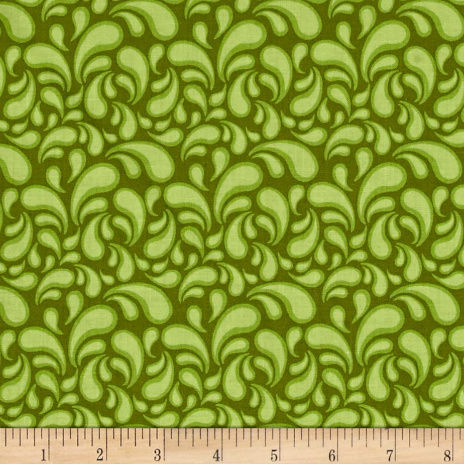 Intrigue Swirl Lime Green