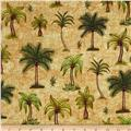 Caravan Palm Trees Gold