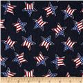 Fashion Printed Denim Patriotic Stars