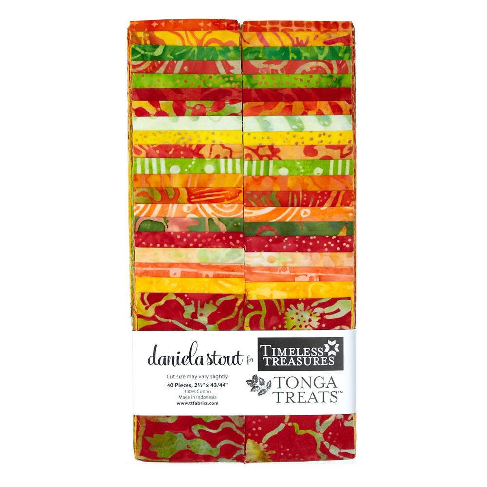 Timeless Treasures Tonga Batik Sunburst 2.5 In. Strips