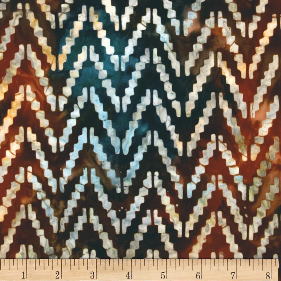Artisan Batik Sante Fe Trail 3 Chevron Sunset