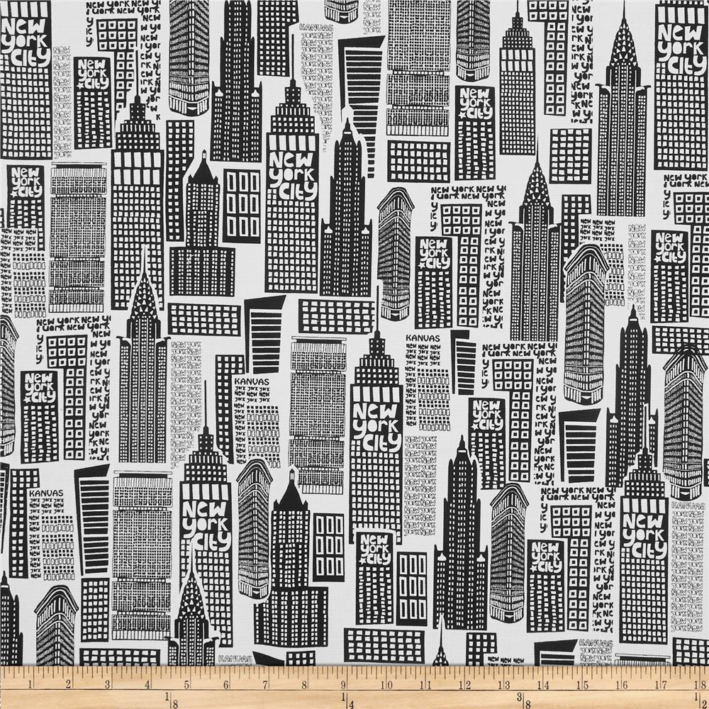 The Big Apple Sky Scrapers Black/White