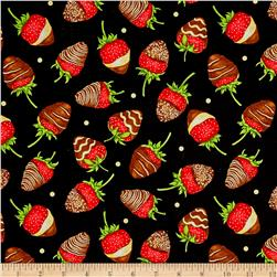Forever Yours Metallic Chocolate Covered Strawberries Black