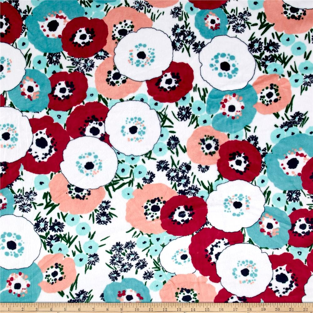Shannon Minky Cuddle Blossom Coral