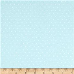 Cloud 9 Organic Tout Petit Interlock Knit Polka Dot Blue
