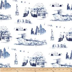 Urban NYC Toile Canvas Denim Blue