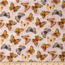 Flights of Fancy Butterflies Allover Pink