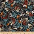 Timeless Treasures French Country Packed Feathers Multi