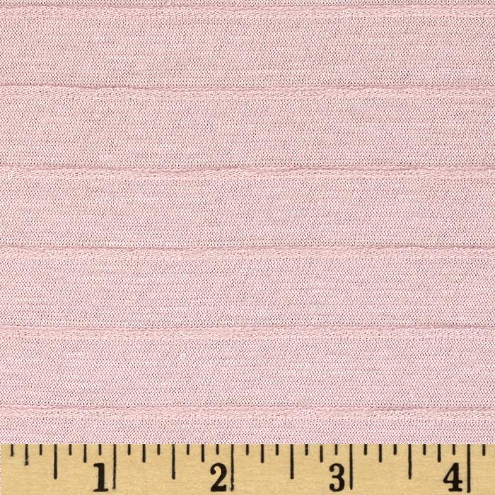 Sheer Pintuck Jersey Knit Light Taupe Pink
