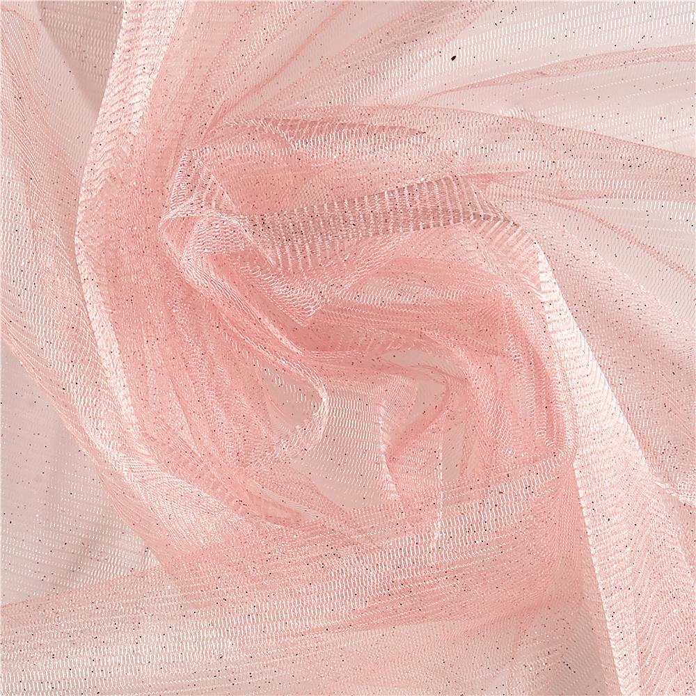Sparkle tulle blush discount designer fabric for Sparkly material