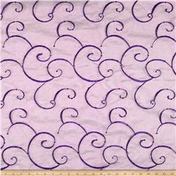 Embroidered Organza Violet