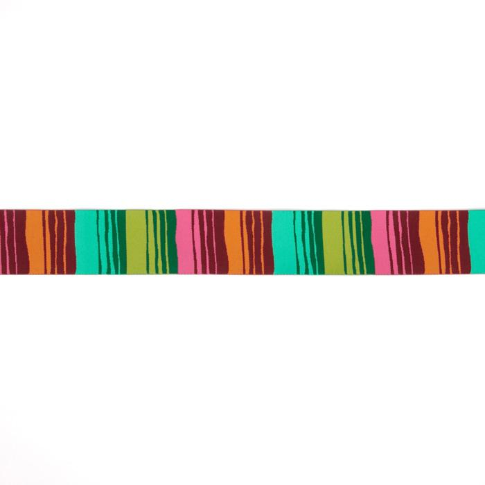 "1-1/2"" Kaffe Fassett Phase Stripes Ribbon Green/Orange"