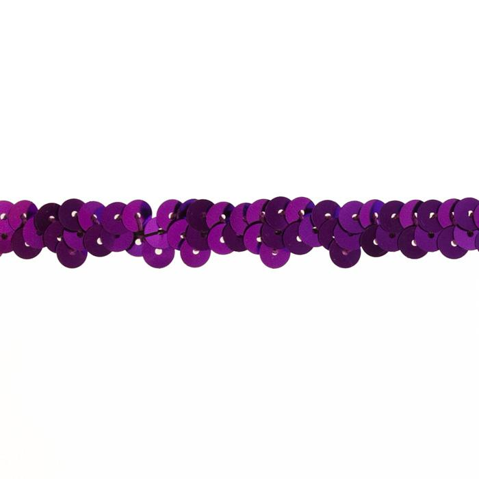 "3/8"" Stretch Metallic Sequin Trim Purple"