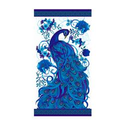 Timeless Treasures Mosaic Plume Peacock 24 In. Panel Peacock