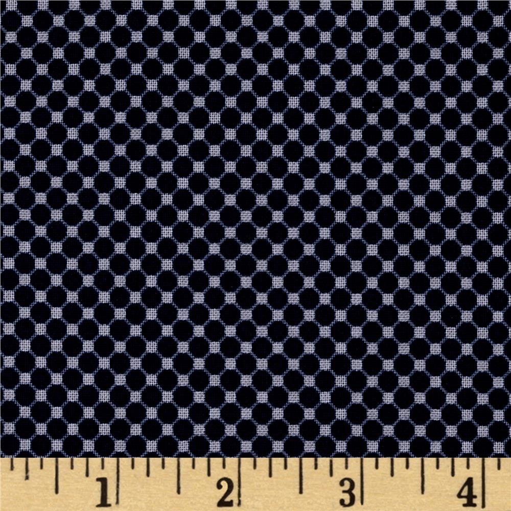 Riley Blake Posy Garden Grid Navy