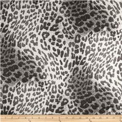 Stretch Cotton Sateen Leopard Black/White
