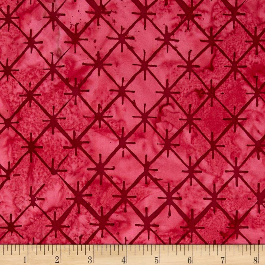 Bali Batiks Handpaint Tiles Red Velvet