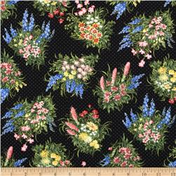 Moda Wildflowers VII Spring Bouquet Black