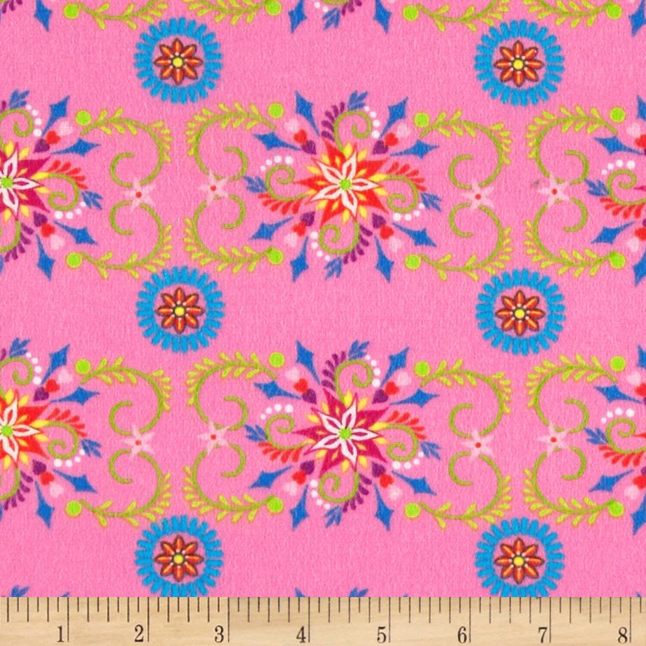 Mystic Forest Flannel Flower Designs Pink