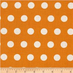 Michael Miller Textured Basics Cool Dot Tangerine Fabric