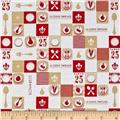 Riley Blake Ooh La La Plate Red