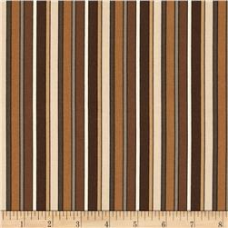 Stripes Brown Fabric