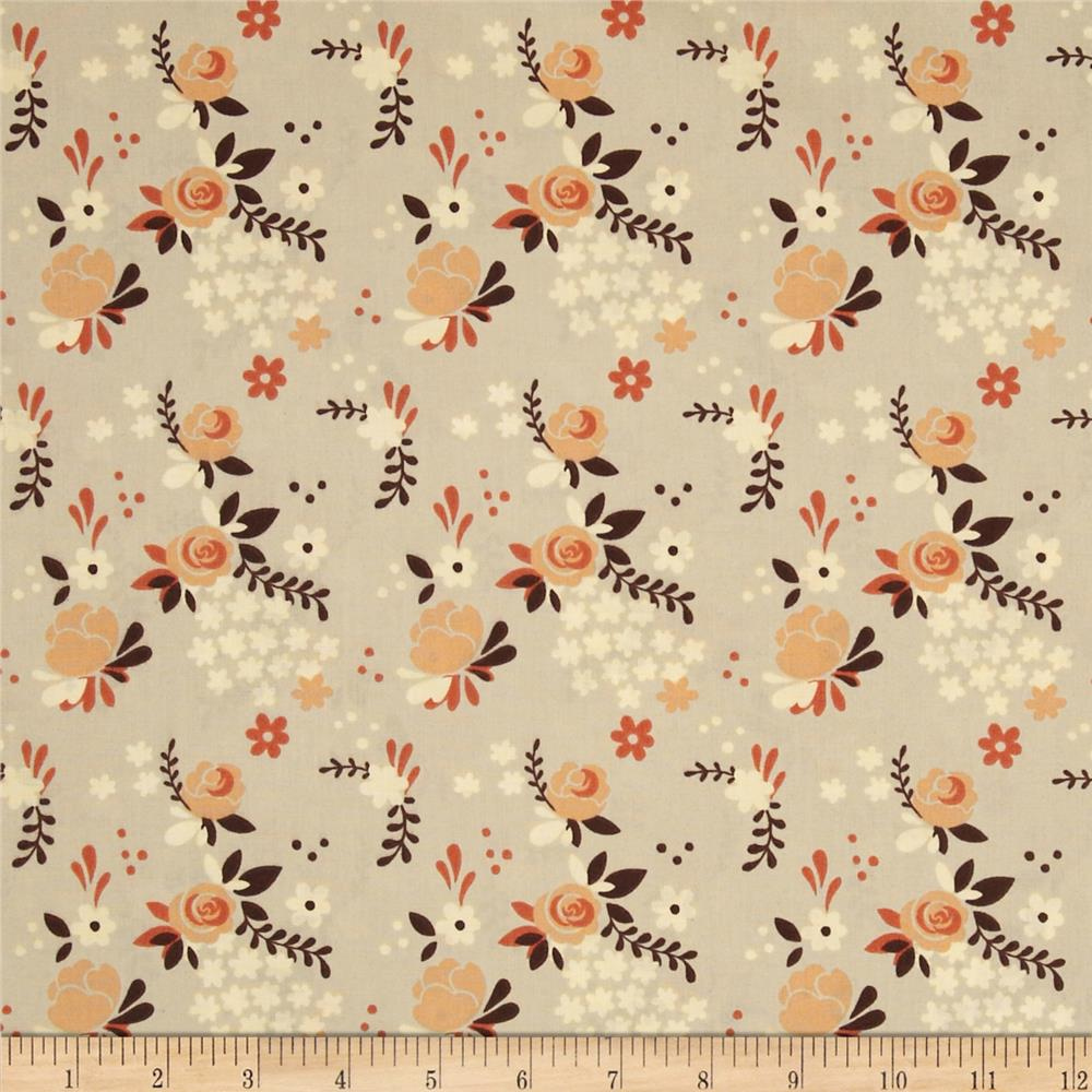 Birch Organic Fort Firefly Rose Garden Taupe