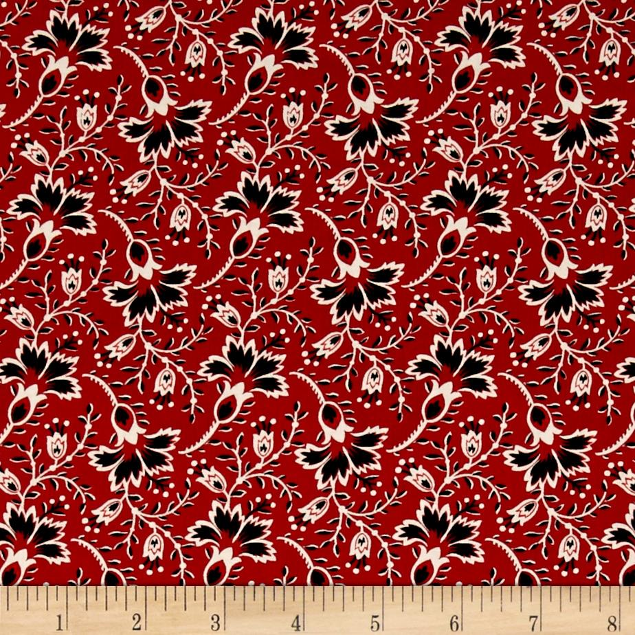 Hold 39 em or fold 39 em bandana floral red discount for Decorator fabric