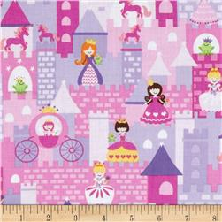 Timeless Treasures Fairy Tale Mini Princess Castle Pink