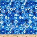 Sing the Blues Medium Floral Blue