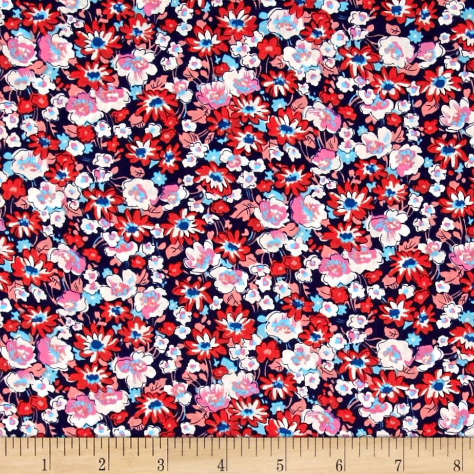 Kaufman London Calling Lawn Floral Americana