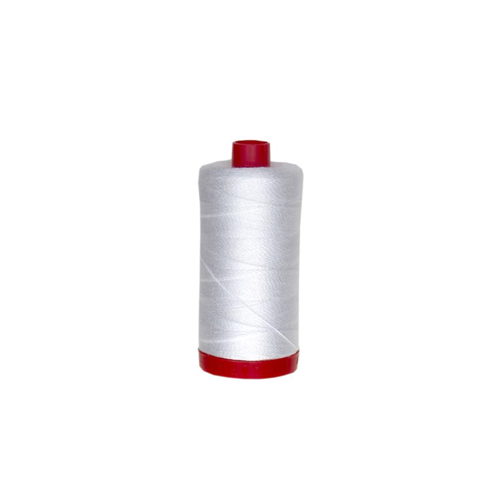 Aurifil 12wt Embellishment and Sashiko Dreams Thread White