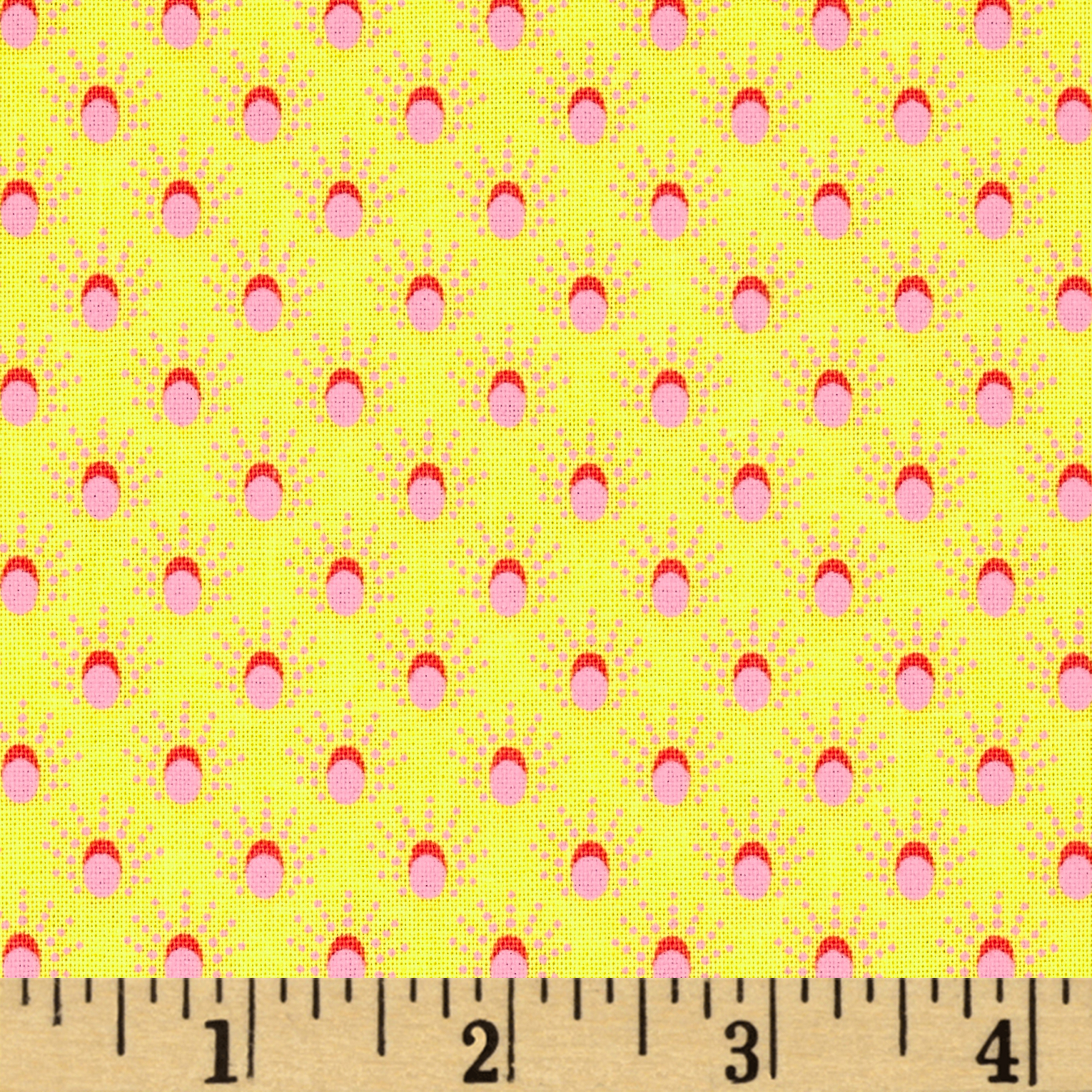 Meadow Storm Sun Shower Dots Yellow Fabric by Marcus in USA