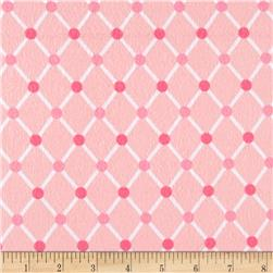 Kaufman Cozy Cotton Flannel Trellis Pink
