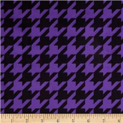 Minky Houndstooth Bright Purple/Black Fabric