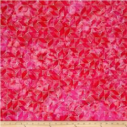 Bali Handpaints Batiks Winter's Magic Blocks Pink