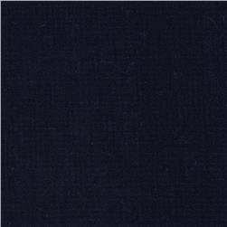 Micro Dot Cotton Shirting Navy