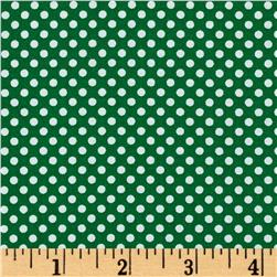 Season's Greetings Mini Dot Green