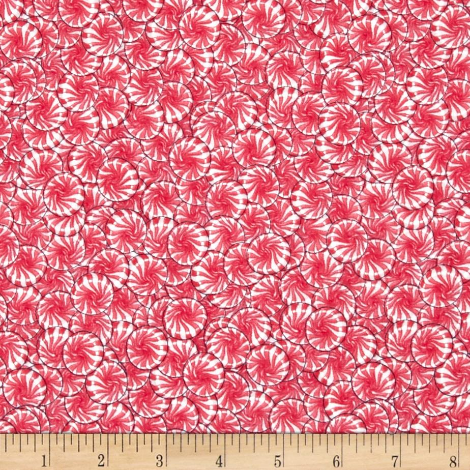 The Sweet Scoop Packed Peppermints Red/White Fabric