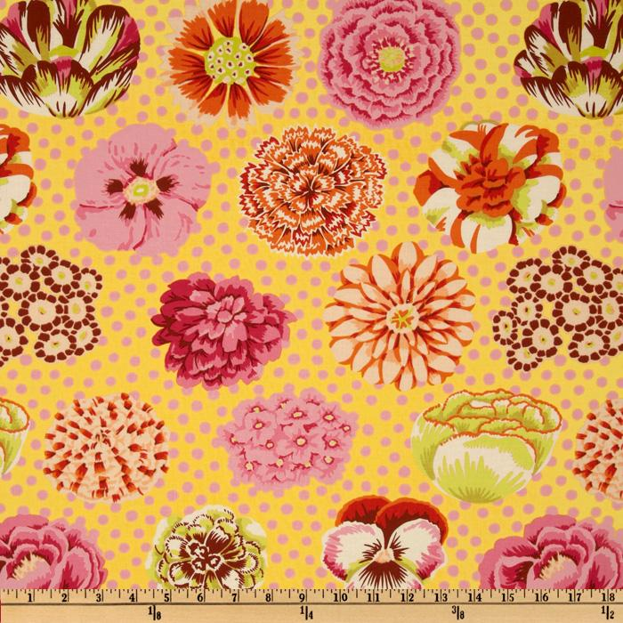 Kaffe Fassett Big Blooms Yellow