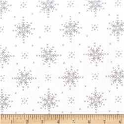 Michael Miller Woodland Winter Stitch Snowflake Snow
